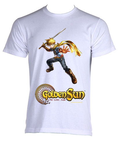 camiseta do jogo golden sun do game boy - modelo 2