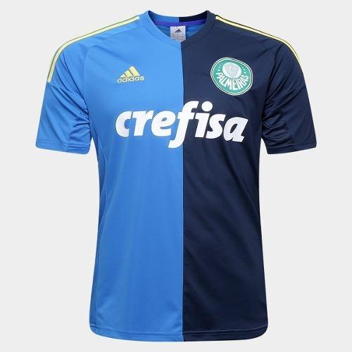Camiseta Do Palmeiras - adidas - Azul - Modelo 2016   2017 - R  139 ... fe8164aa47e03