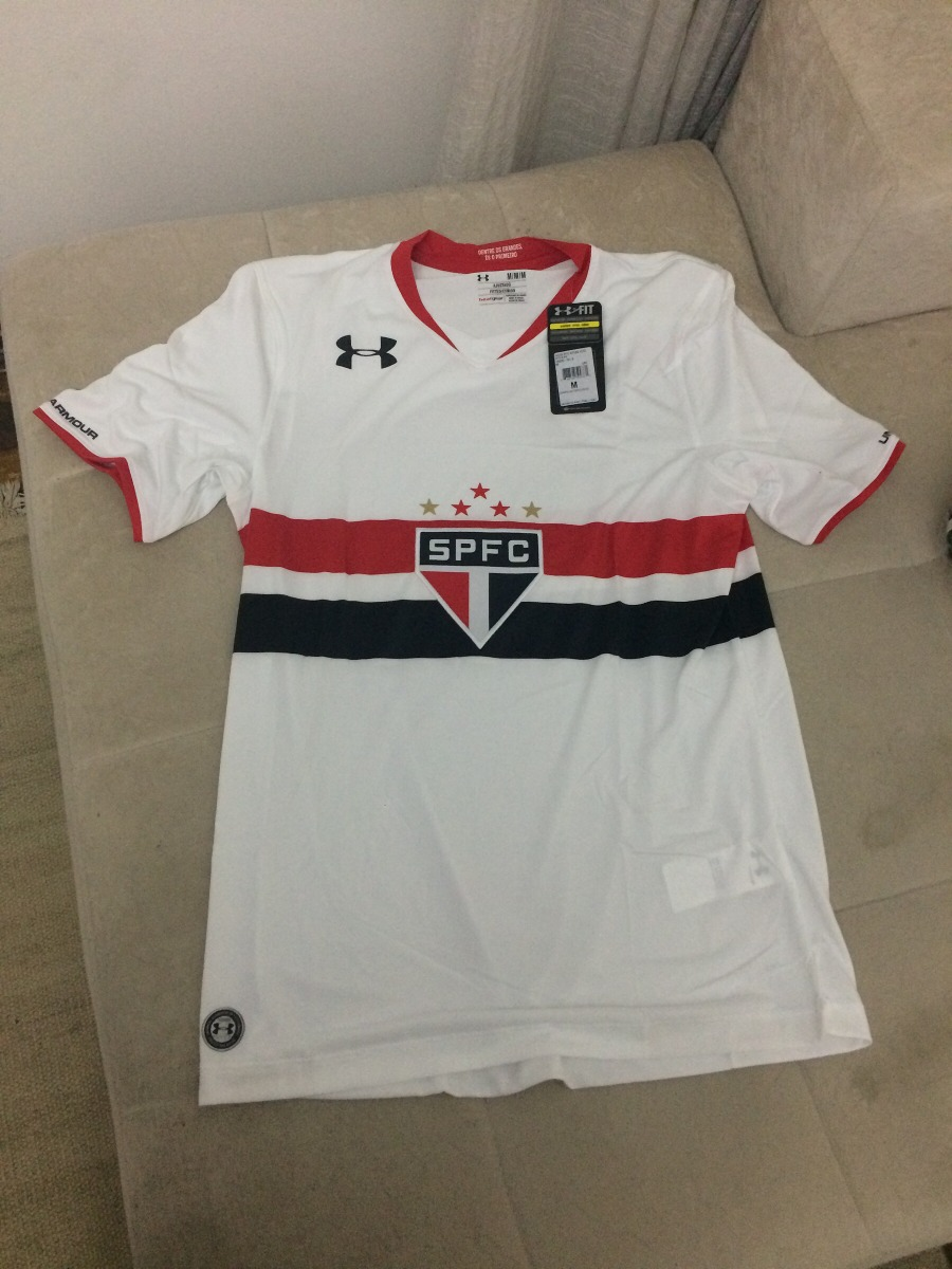 e9804d32cec camiseta do spfc under armour original oficial entrega i. Carregando zoom.