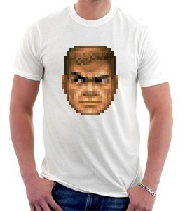 camiseta - doom - cabeça - games - fps
