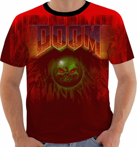 camiseta doom - play station one - classic - games