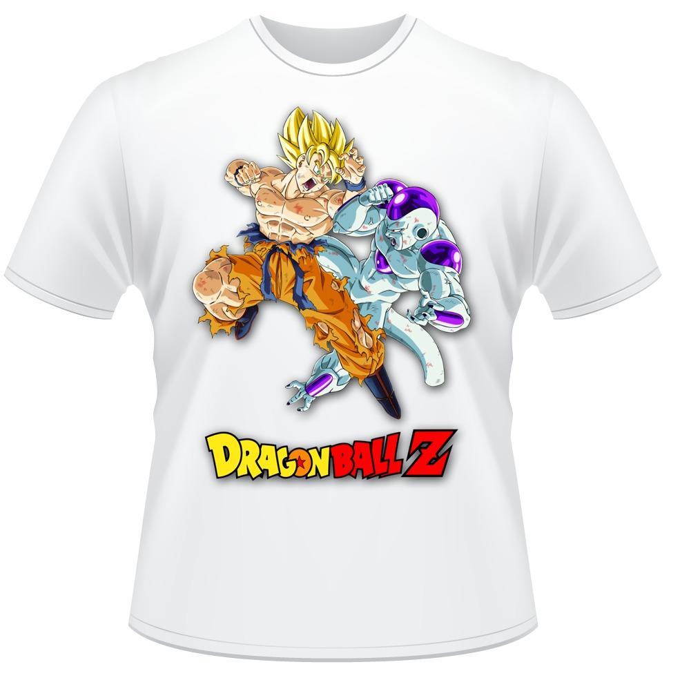3e52a26b9 camiseta dragon ball z goku freeza anime desenho camisa. Carregando zoom.