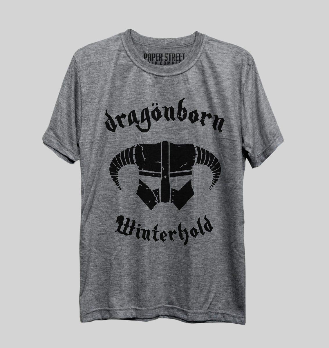365c8718bf camiseta dragonborn dovahkiin skyrim the elder scrolls. Carregando zoom.