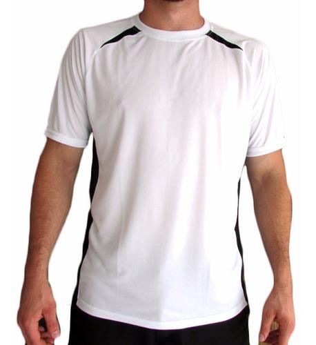 camiseta dry fit com recortes vibrantes