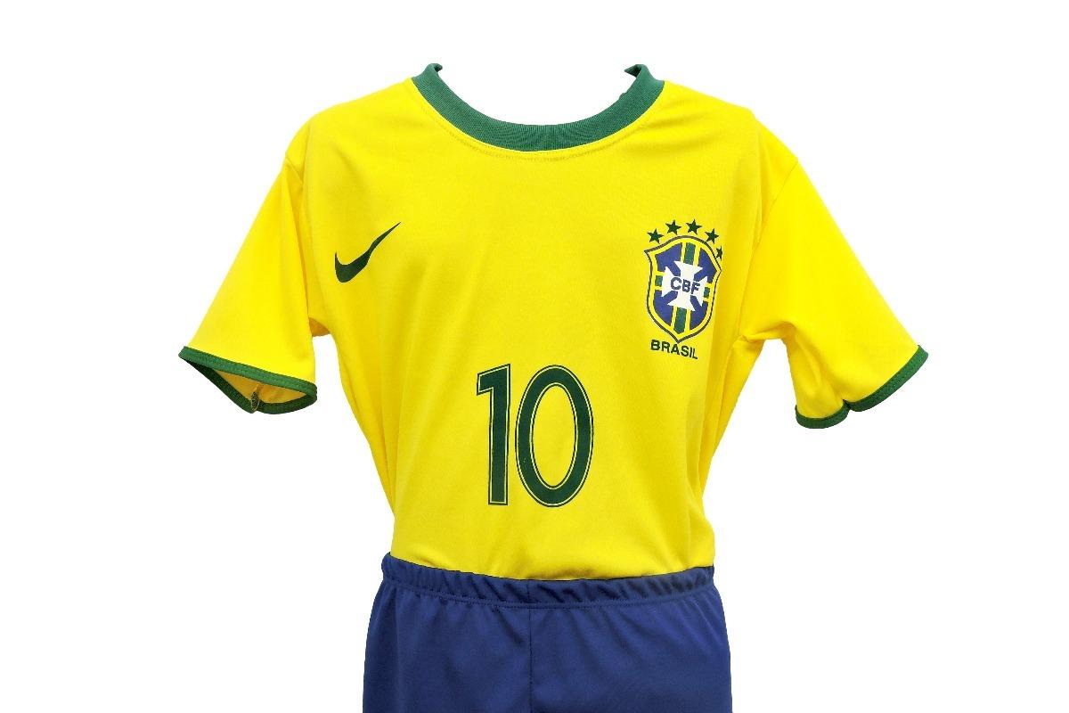 47c5b25843ff4 Camiseta E Calção Do Brasil Infantil Para Menino E Menina - R  24