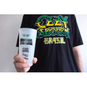 Camiseta E Copo Heineken Ozzy Osbourne Oficial Tour Brasil