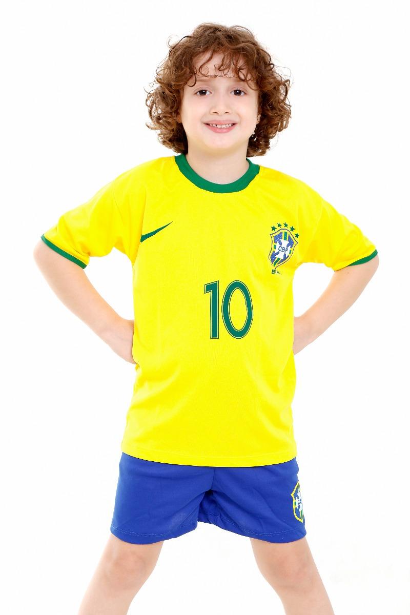 cc5cdf0d6a213 camiseta e short brasil infantil seleção brasileira neymar. Carregando zoom.