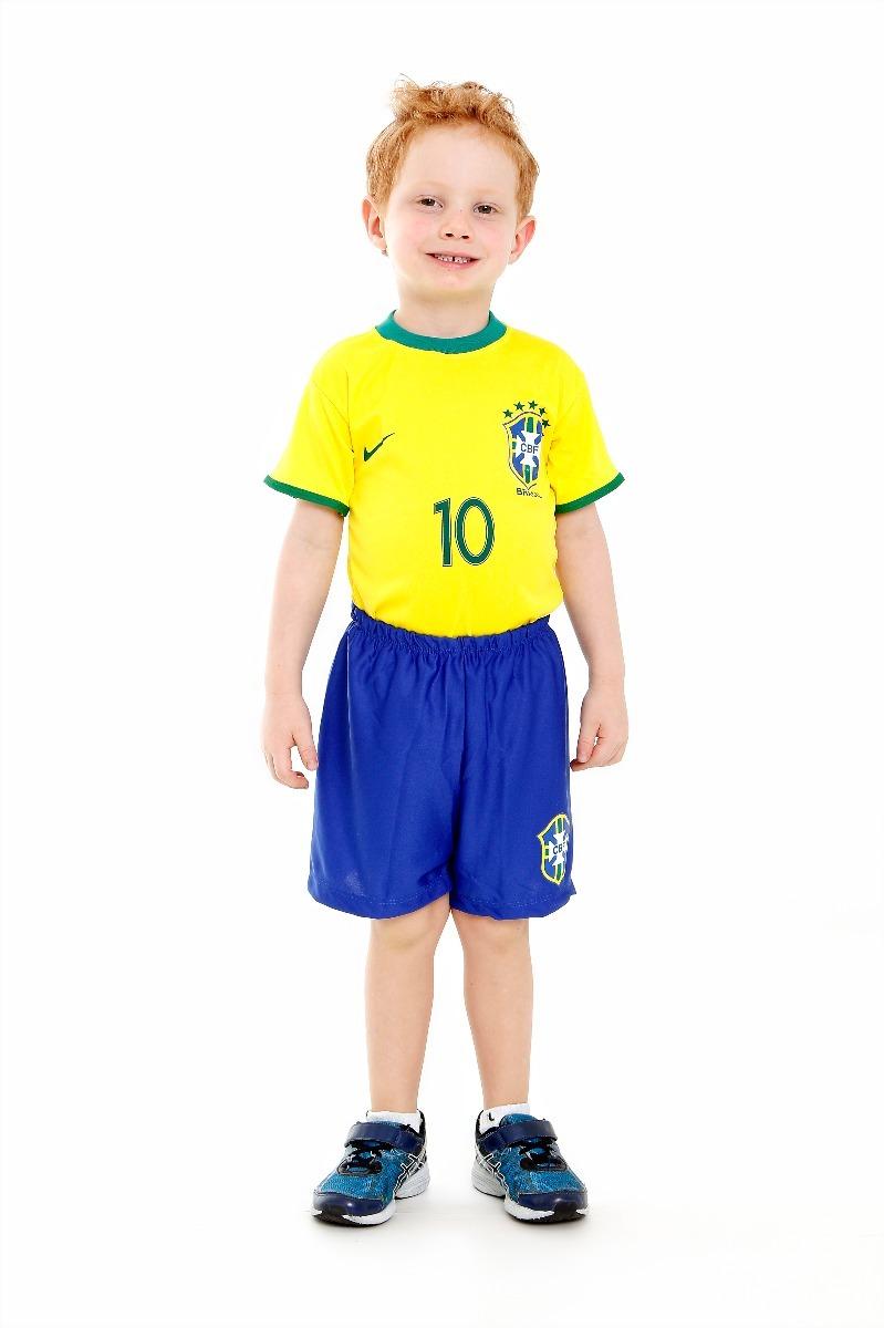 aa41565117806 camiseta e shorts brasil infantil neymar seleção brasileira. Carregando zoom .