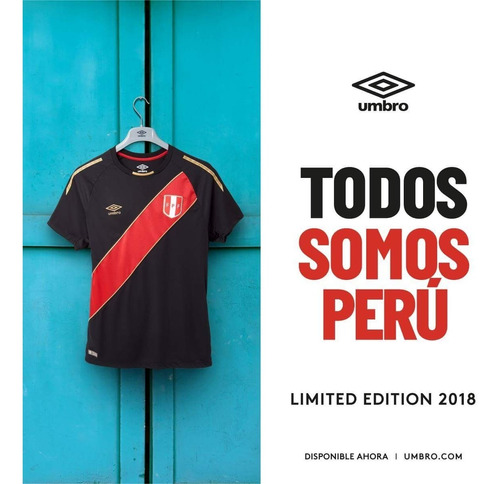 camiseta edición limitada perú 2018 umbro negra original