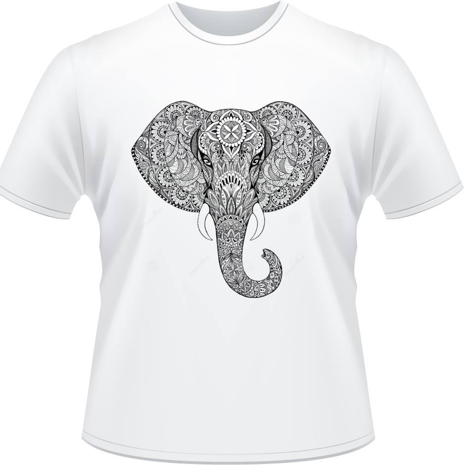 ef9be23d18 camiseta elefante mandala psicodelia camisa masculina branca. Carregando  zoom.
