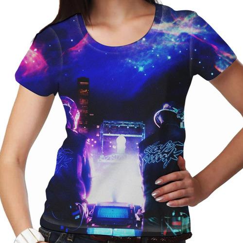 camiseta eletrônica daft punk live feminina