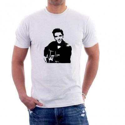 camiseta - elvis presley - 100% poliester