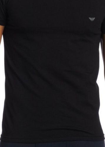 camiseta emporio armani logo/cuello v/negro/ large.