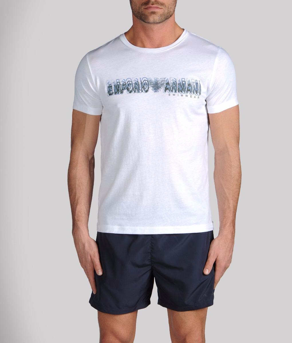 eb1fae59e7e Camiseta Emporio Armani Swimwear Usada Tam G De R 720