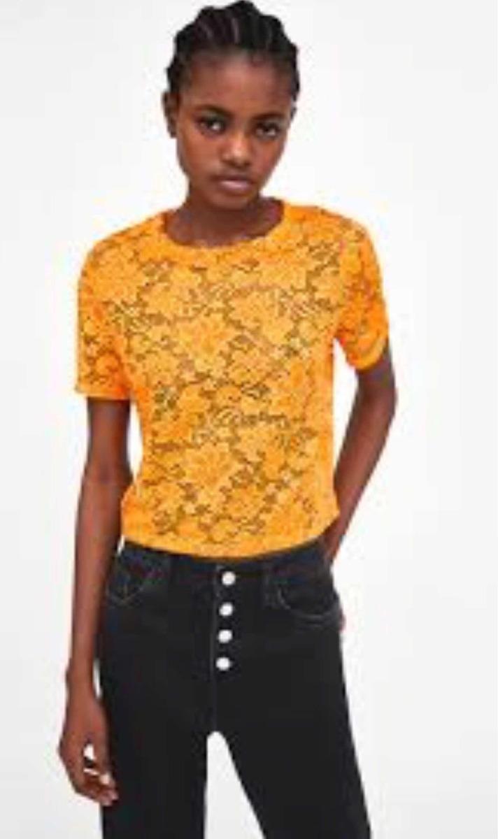 Trafaluc320 00 Encaje En Zara Libre Camiseta Mercado 80PXnwkO