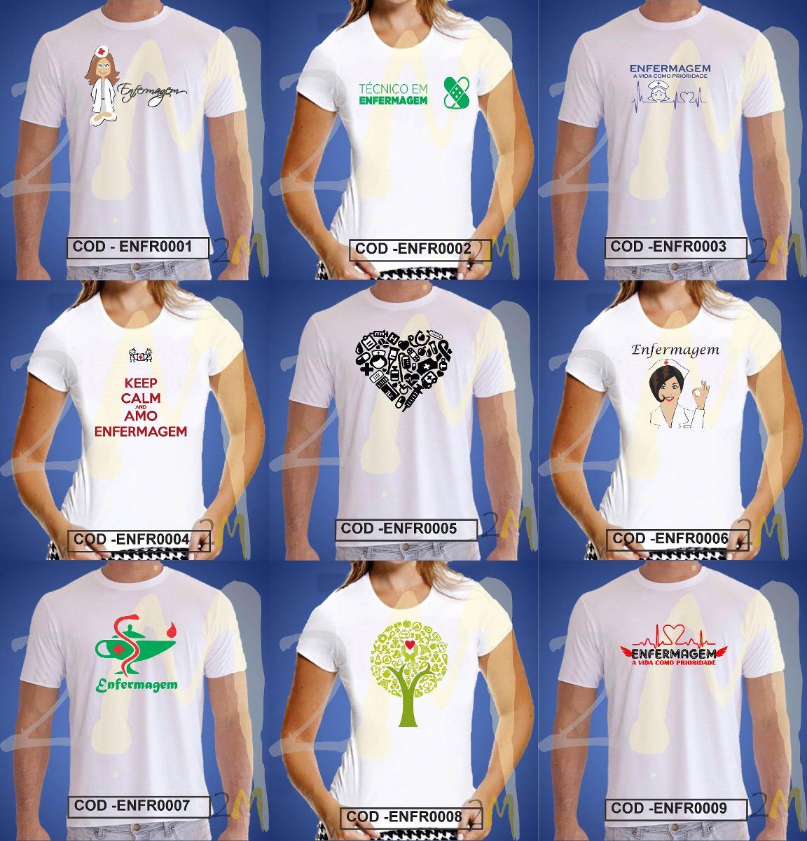 d5455687388df Camiseta Enfermagem Enfermeira Curso Camisa Baby Look - R  19