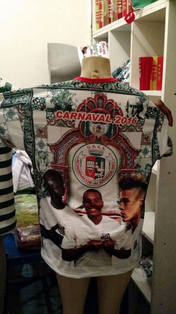 c2c78558b6 camiseta escola samba grande rio 2016 - homenagem santos fc. Carregando zoom .