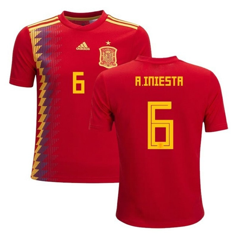 camiseta españa mundial 2018 iniesta personalizable original. Cargando zoom. 9e4605d4fef0a
