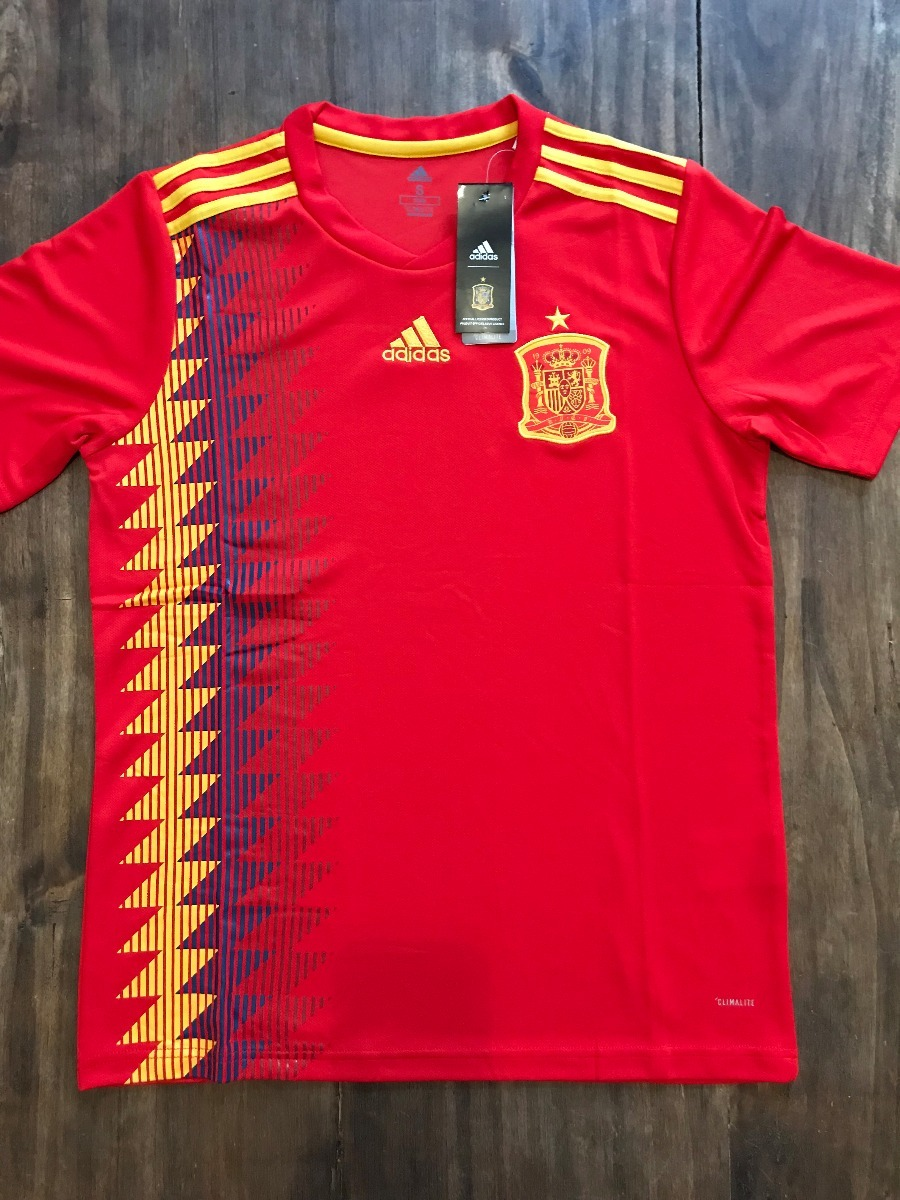 3a3a7b3e9767e Camiseta España Titular Mundial Rusia 2018 adidas -   899