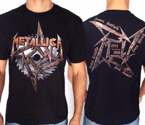 camiseta especial- metallica - tam m
