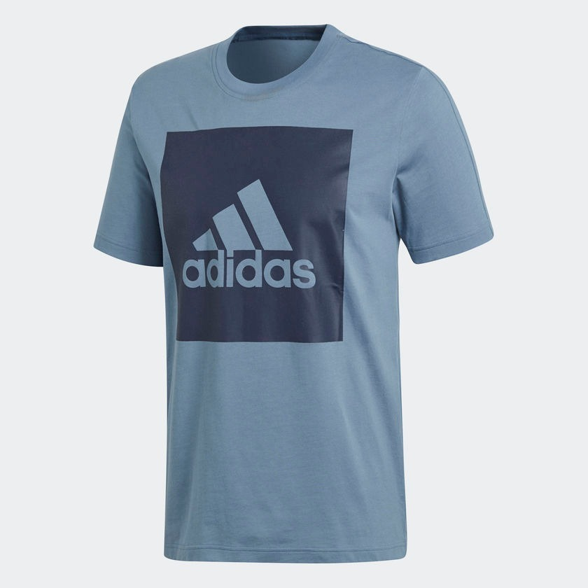 camiseta essentials box logo azul adidas. Carregando zoom. a2319af33057d