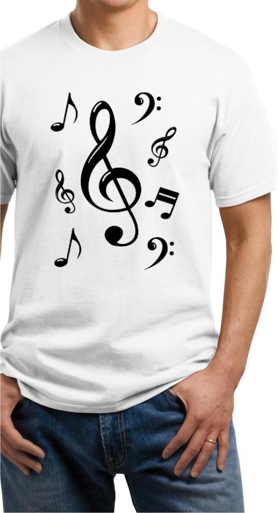Camiseta Estampa Clave De Sol-notas Musicais - R  25 2075db767e38f