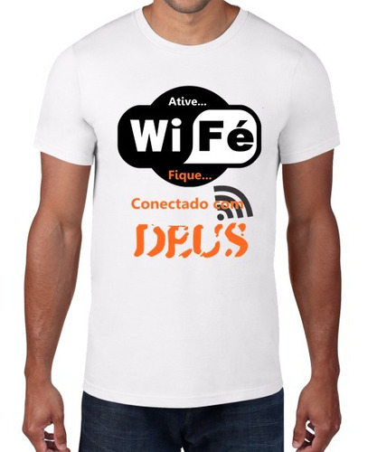 camiseta estampa gospel de ótima qualidade - frete grátis