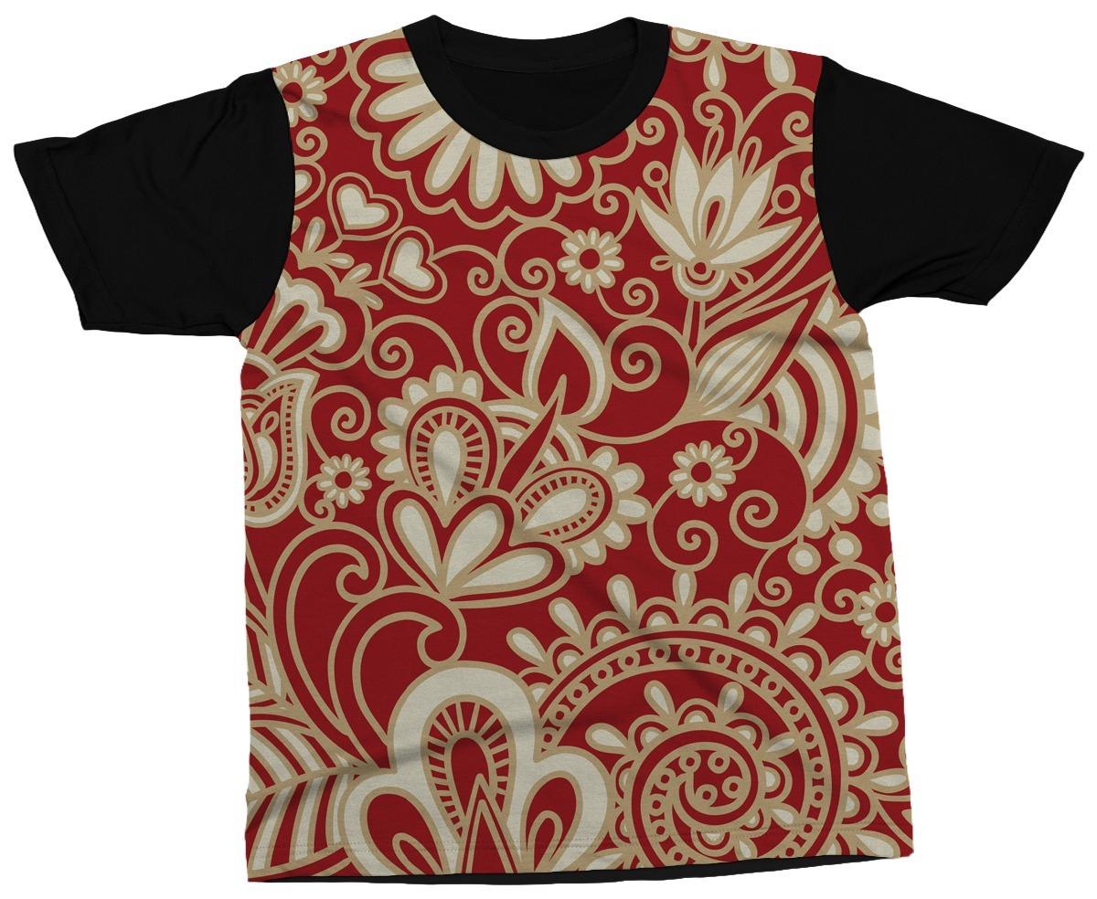 Camiseta Estampa Mandala Desenho Vermelho Blusa Camisa - R  89 276b9039d5990