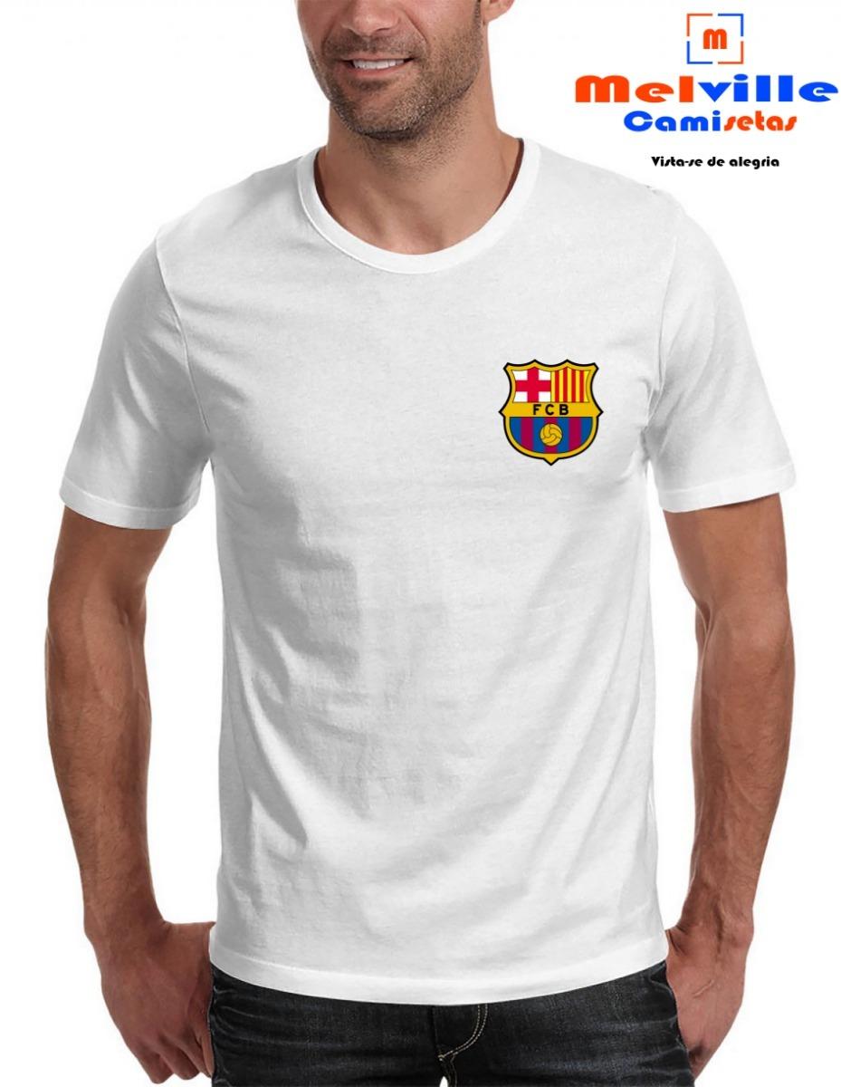 dd6a5446b00ce camiseta estampada barcelona escudo futebol. Carregando zoom.