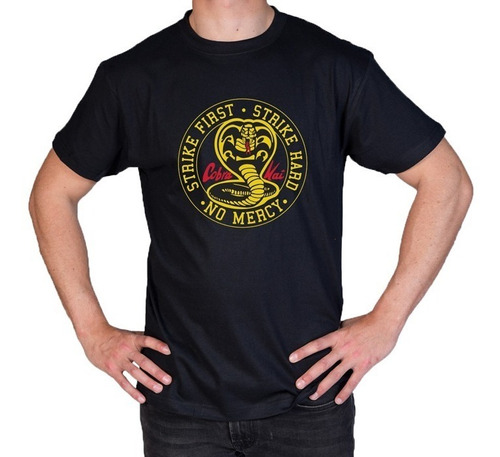 camiseta estampada cobra kai