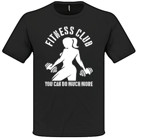 ef931ab730b4e Camiseta Estampada Fitness Club Gym Academia - 100% Alg. - R  42