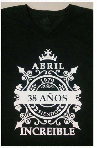 camiseta estampada nacimiento mes genial