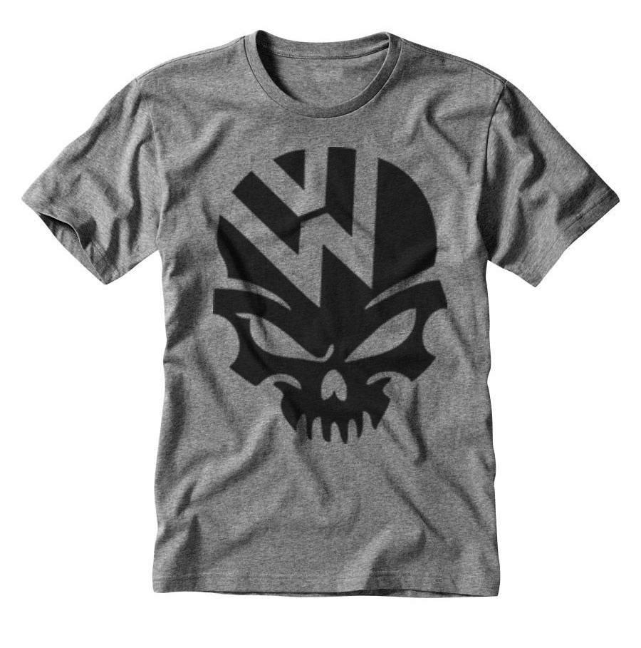 d83f59cd73fdd camiseta estampada símbolo volkswagen caveira. Carregando zoom.