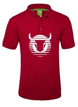camiseta estampada toros neza tipo polo