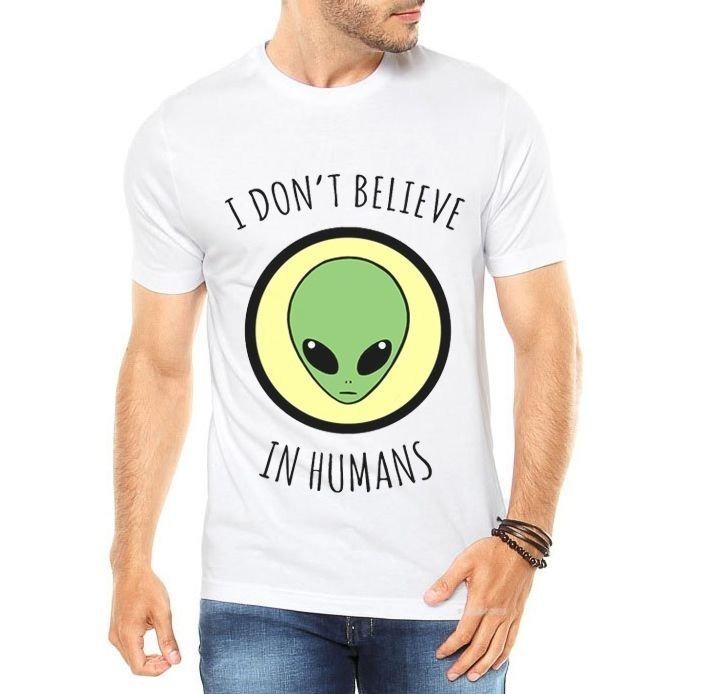 a20d0e183a Camiseta Et Eu Não Acredito Em Humanos Roupa Masculina - R  54
