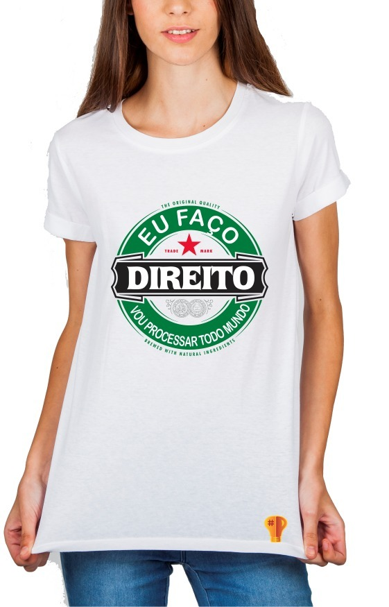 d00b587602329 camiseta eu faço direito feminina universidade frases cursos. Carregando  zoom.