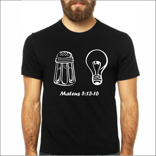 camiseta evangélica feminina sal da terra, luz do mundo