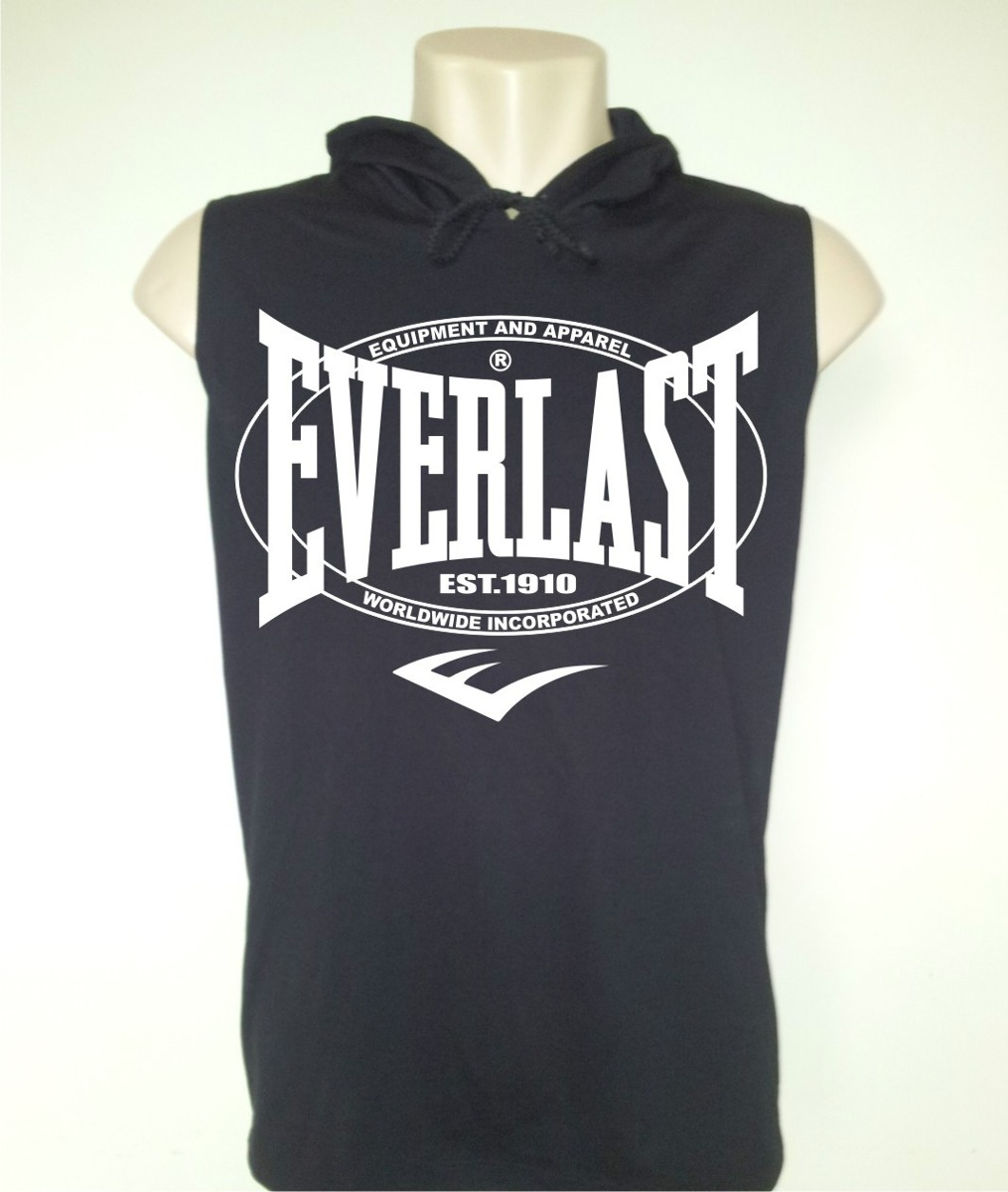 Camiseta Everlast Capuz - Boxe - Mma - Muay Thai - Ufc - - R  49 aa08e3257ad