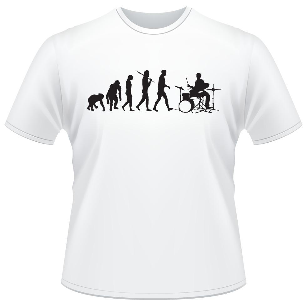 6953d44db0ea2 camiseta evolução do baterista drummer evolution bateria. Carregando zoom.