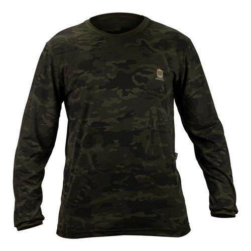 camiseta exercito manga longa camuflado resgate