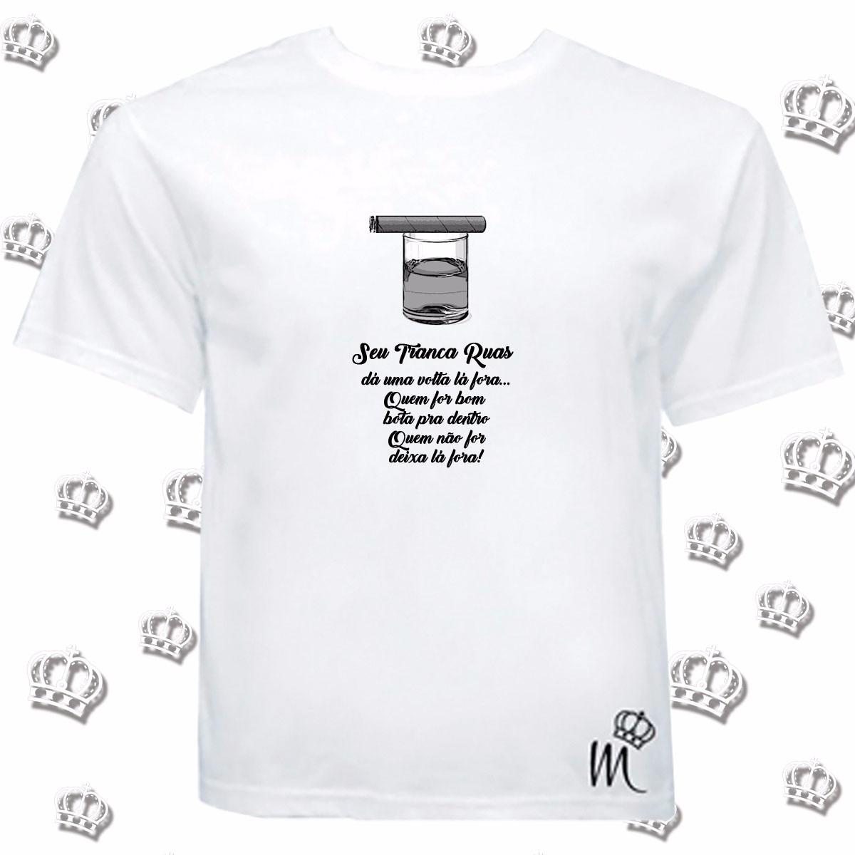 Camiseta Exú Tranca Ruas Frase Umbanda Candomblé