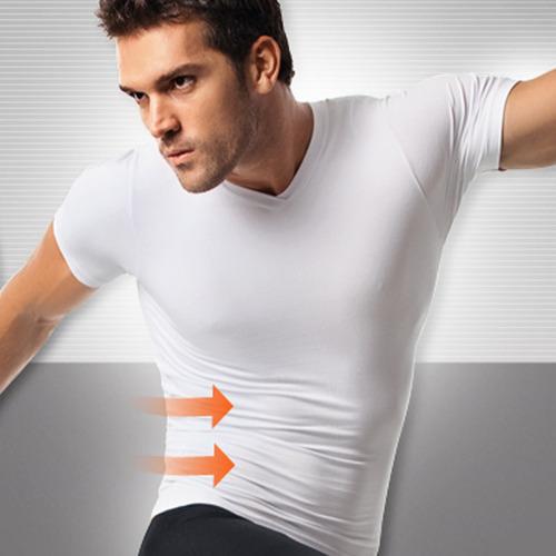 camiseta faja hombre moldeadora reductora modeladora manga