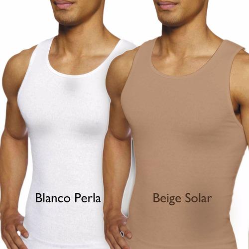 camiseta faja reductora adelgazante slim fit hombre pura+