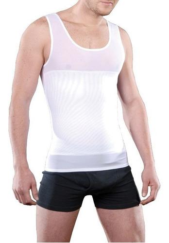 camiseta faja reductora magnetica playera abdomen al 2x1
