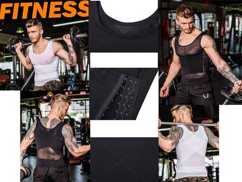 camiseta faja reductora modeladora hombre doble soporte 2x1