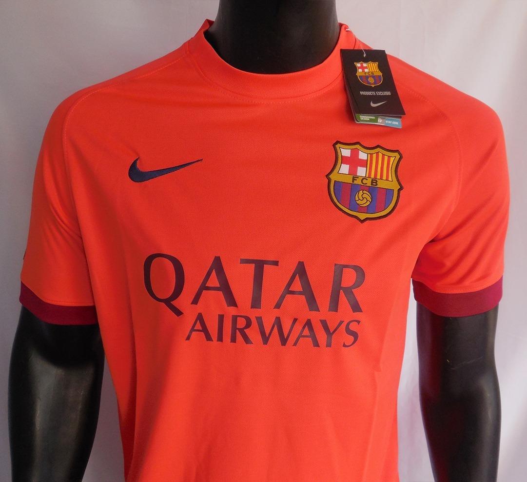 camiseta fc barcelona 14 15 away nike rosado. Cargando zoom. cfacda45400