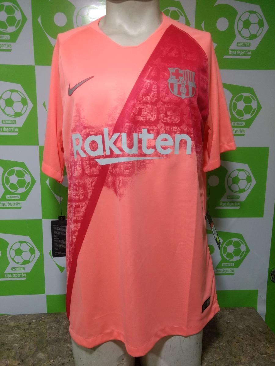 camiseta fc barcelona 2018-19 nike tercera rosada original. Cargando zoom. cb007a406c0