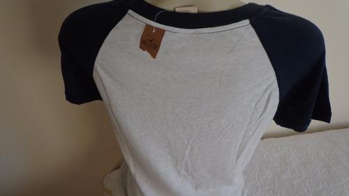 camiseta fem  hollister original branca tam. g  pronta entr