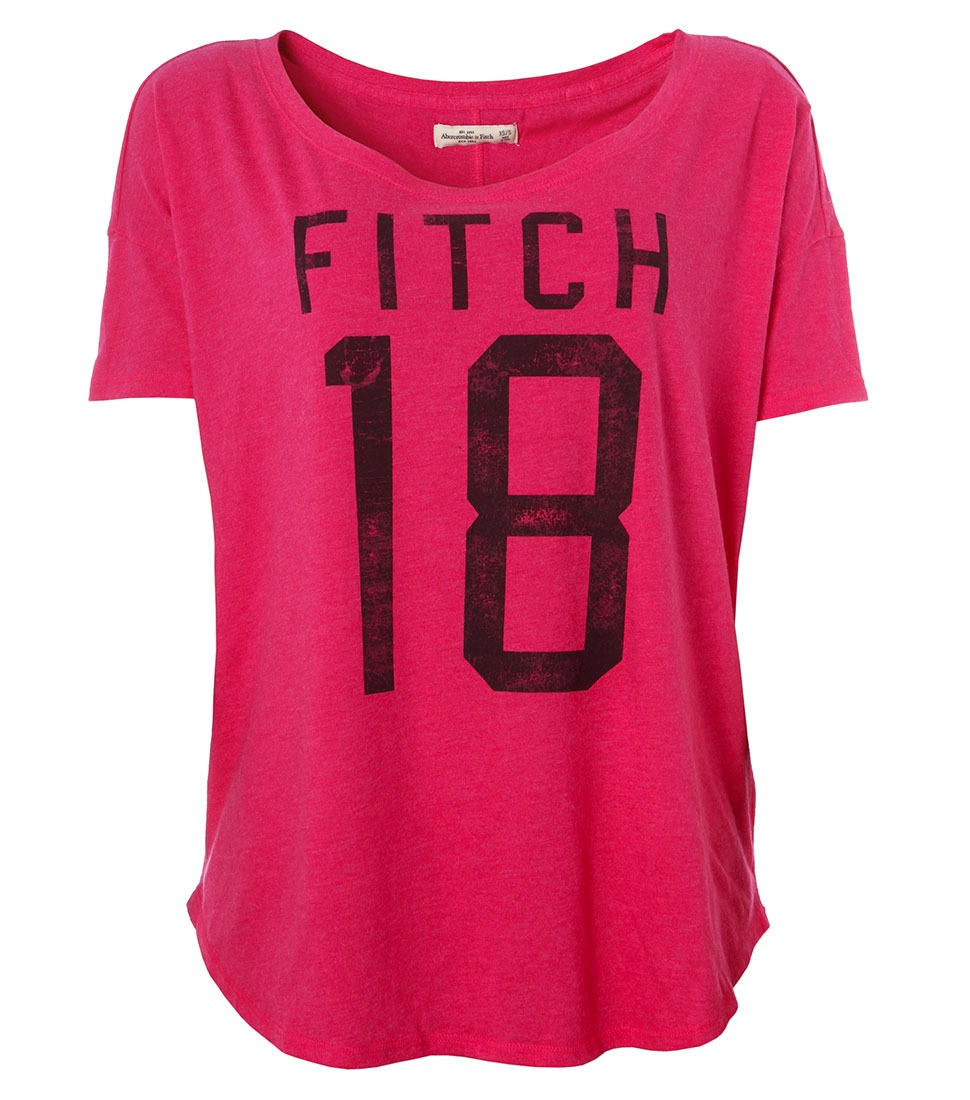 a8176fcd15 camiseta feminina abercrombie   fitch college pnk. Carregando zoom.