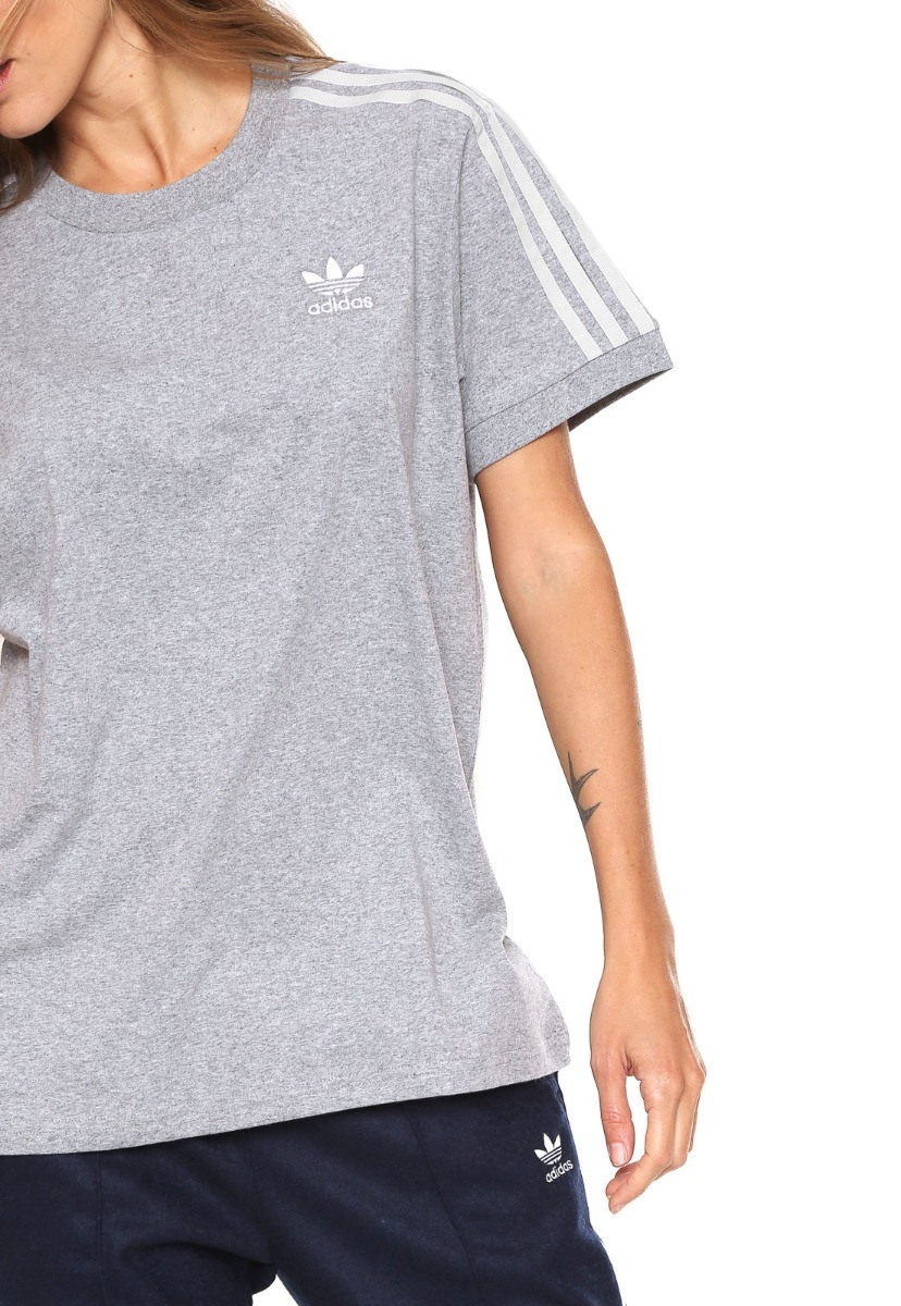 12faddc00 camiseta feminina adidas originals 3 stripes original cy4982. Carregando  zoom.